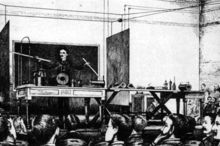 Nikola Tesla's wireless transmission of power and energy demonstration during his high frequency and potential lecture of 1891
