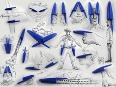 Ilustrações que incorporam objetos reais do dia a dia