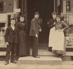The Bowery Five Points Antique Cabinet Card by BallyDingRevue, $45.00