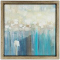 Aqua Light 41 Square Framed Contemporary Wall Art