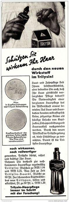 Original-Werbung/ Anzeige 1930 er Jahre - TRILYSIN HAARPFLEGE - ca. 65 x 220 mm