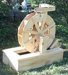 Water Crafts' builds and sells water wheels, water wheel fountains and lawn water mills