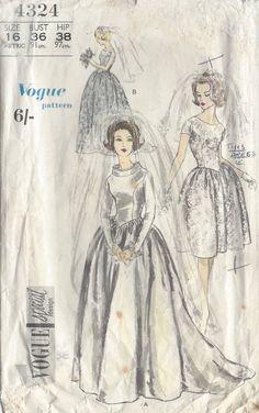 Vogue 4324 wedding dress pattern