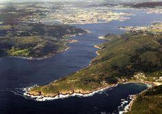 Entrada da Ria de Ferrol. Galicia. Spain.