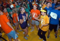 Notre Dame High School students take part in the Mini-thon 24 hour dance marathon to raise money for the Hershey Medical Center Four Diamonds Fund.