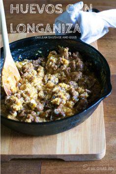 Huevos con longaniza, receta chilena - En Mi Cocina Hoy