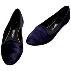 Pre-owned Tom Ford Purple Pony Hair Smoking Slipper Flats featuring polyvore, women's fashion, shoes, flats, purple, ballet flat shoes, purple ballet flats, ballet shoes, purple shoes and tom ford loafers
