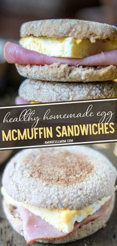 Once you try these Healthy Homemade Egg McMuffin Sandwiches, you will skip the drive-through permanently! This recipe comes together easily with a sheet pan hack for cooking eggs. Make ahead and freeze for a wholesome back to school breakfast on-the-go! Save this pin! School Breakfast, Breakfast On The Go, Breakfast Dishes, Healthy Breakfast Recipes, Easy Healthy Recipes, Brunch Recipes, Cooking Eggs, Mcmuffin, Delicious Sandwiches