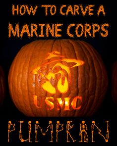 Click here to download a free printable template and carve your own Marine Corps pumpkin!