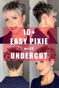 Pixie Haircut Styles, Pixie Haircut For Thick Hair, Short Choppy Hair, Haircuts For Thin Fine Hair, Short Hair Undercut, Short Thin Hair, Short Grey Hair, Short Hair Older Women, Short Hair With Layers