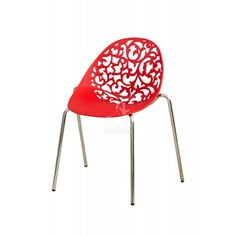 Modern Red Openwork Chair
