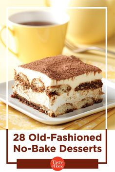 Grandma's treats are always best, especially when you don't have to use the oven to make 'em. These easy no-bake desserts will take you back down memory lane! Potluck Desserts, Easy No Bake Desserts, Summer Desserts, Just Desserts, Delicious Desserts, Dessert Recipes, Yummy Food, Dessert Buffet, Pie Dessert