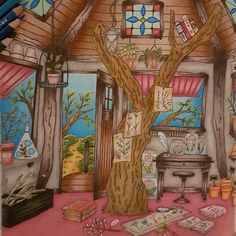 Eriy - Romantic Country coloring book - the second tale mit Prismacolor Premier Pencils