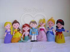 Sue Paula - Linha Feltro: Príncipe e Princesas em feltro