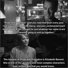 The fight over Pride and Prejudice in You've Got Mail (1998)