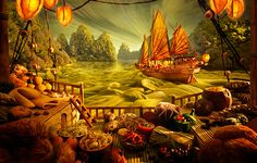 Real Food Pictures!  Picturesque Foodscapes by Carl Warner