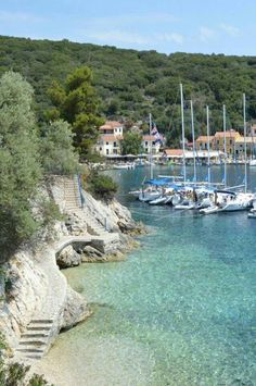 Kioni, Ithaca island, Ionian Sea, Greece