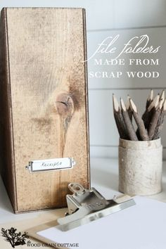 DIY Wood Magazine Files Tutorial from Infarrantly Creative