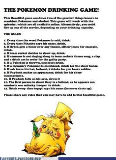 The Pokemon Drinking Game