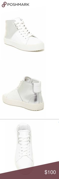 Kendall & Kylie Dylan High Tops ✨BNWT and box✨ White and silver w/ chunky sole. 🚫No Trades❗️Reasonable offers only 🎯 Kendall & Kylie Shoes Sneakers