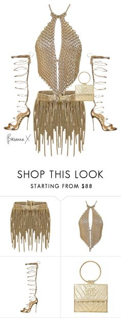 """Untitled #3367"" by breannamules ❤ liked on Polyvore featuring BCBGMAXAZRIA, Dsquared2 and Chanel"