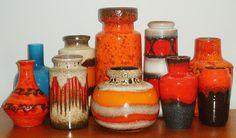 west german ceramics in warm colors, my favorite.