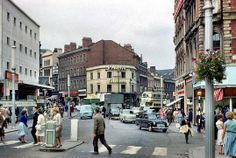 High Street/Bull Street/Dale End, Birmingham, 1960 Birmingham City Centre, Birmingham England, Walsall, 2nd City, Time In The World, Old Buildings, Best Cities, Old Town, Street View
