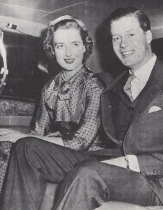 Frances Roche and Edward John Spencer, 8th Earl of Spencer. Parents of Princess Diana.