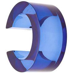 Lizzie Fortunato Jewels postmodern bracelet ($225) ❤ liked on Polyvore featuring jewelry, bracelets, blue, blue jewelry, lizzie fortunato jewels and blue bangles