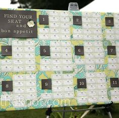 Table assignments: fabric board