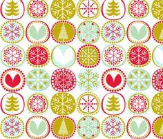 Snowflakes fabric by natitys (Eloisa Docton) on Spoonflower - custom fabric