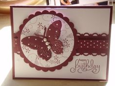 5 Handmade butterfly Embossed Card