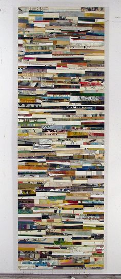 Untitled Strips Color 6x2 Yellow Flock & Black by stickandrock, $600.00