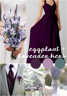 Eggplant and Lavender Herb are the perfect wedding color palette. Pantone Wedding Colors for 2015 Spring Wedding Colors, Fall Wedding, Dream Wedding, Eggplant Wedding Colors, Wedding Blog, Deep Purple Wedding, Eggplant Color, Wedding Colours, Wedding Flowers