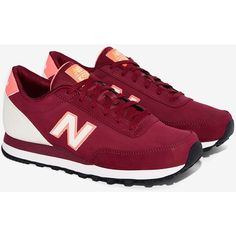 New Balance 501 Sneaker ($70) ❤ liked on Polyvore featuring shoes, sneakers, platform shoes, lacing sneakers, platform lace up shoes, new balance and rubber sole shoes
