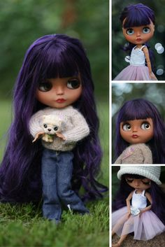 OOAK doll at STOCK Custom Blythe Doll Collection doll Blythe doll handmade Doll TBL Blythe doll Art doll Unique doll by Master Diana Etkind