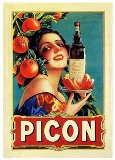 Picon - this poster is in my dining room and always reminds me of drinking Picon Punch w/fam.