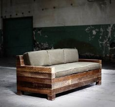 exterior, Interesting Diy Patio Bench Made Of Wooden Material Also Comfort Seat And Back From Sponge Again Fabric As Good Exterior House Design Idea - Antique DIY Patio Bench Gaining Unique Exterior Design