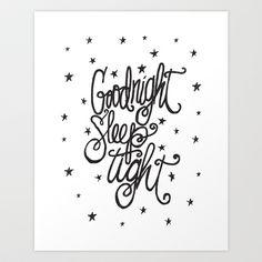 GOODNIGHT SLEEP TIGHT Art Print by Matthew Taylor Wilson - $20.00