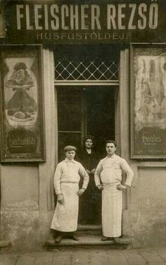 1910. Dankó utca. Fleischer Rezső húsfüstöldéje.