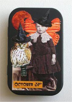Altered Halloween Tin