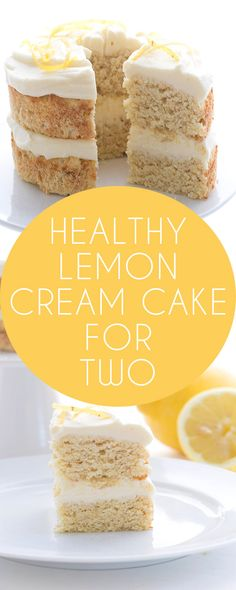 Healthy low carb Lemon Cream Cake. Like Olive Garden but healthy and made just for two! LCHF Keto Banting THM recipe