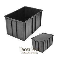 Caixa Organizadora Plástica 180 litros com tampa R$199,90 - Terra Viva Fertilizantes Orgânicos