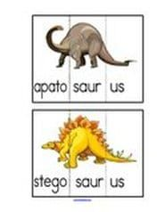 Dinosaur Word Puzzle Cards (10).