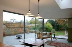 glass sliding doors kitchen design extension oxford