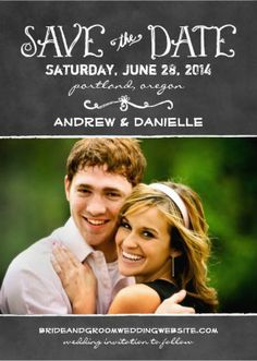 Insert your own photo Save the Date Wedding Invitations. #save_the_date_invitations