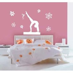 great idea for wall mural in cloes room gymnastics