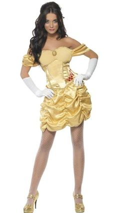 Amazon.com: Disney Golden Princess Belle Womens Fairytale Sexy Hen Party Halloween Costume: Toys & Games