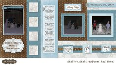 Winter Wonderland Digital Layout - so easy with Studio J.