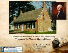 The DeWint House: George Washington Headquarters, Masonic Historic Site, Tappan NY #historictravel